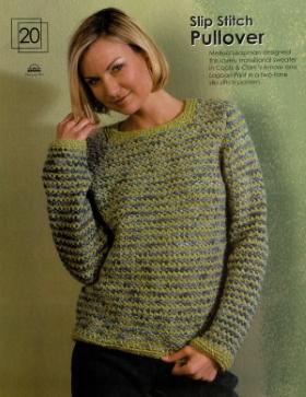 Slip stitch pullover