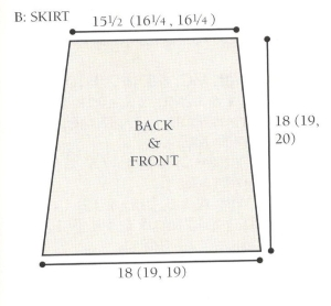 b skirt diagram