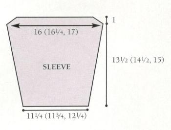 cardigan sleeve diagram