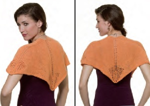 cashmere queen shawlette back