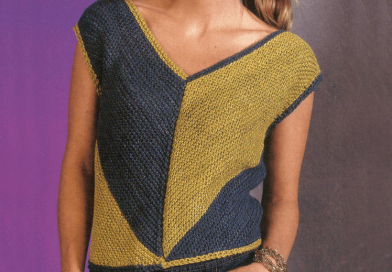 Diagonal V Sleeveless Top