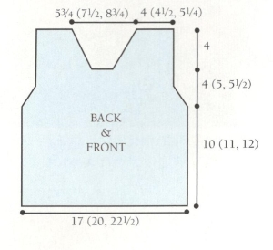 front and back diagram