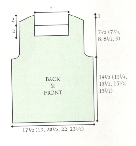 front and back pullover diagram