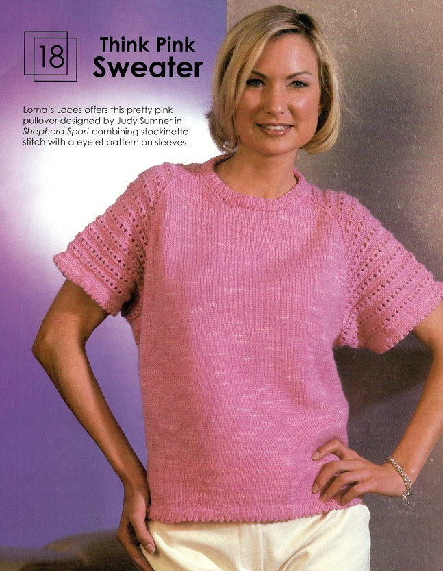 Think Pink Sweater - Knit and Style
