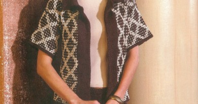 short sleeve jacket and flare skirt