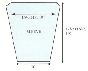 sleeve diagram pullover